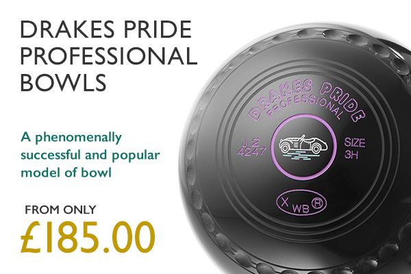 Drakes Pride Professional Bowls. A phenomenally successful and popular model of bowl. From only £185.00