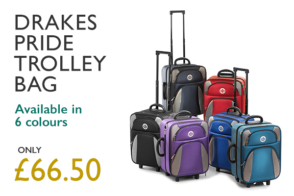 Drakes Pride Trolley Bag — Available in 6 colours. Only £66.50